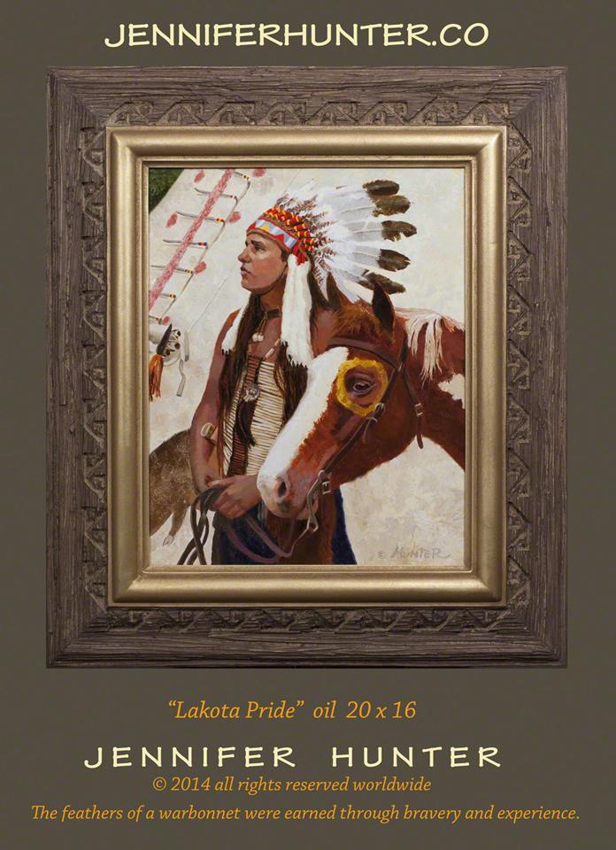 Web Cody Jones Jennifer Hunter oil painting Native American western art Lakota Pride indian tipi horse art