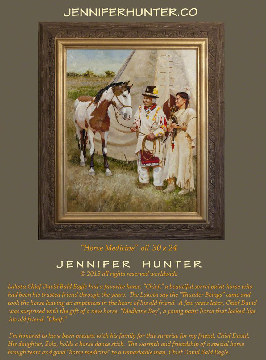 Web Dave Bald Eagle Jennifer Hunter oil painting Native American western art Lakota indian tipi