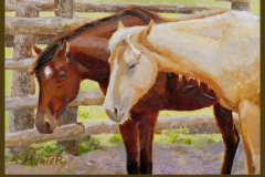 Horse western art oil painting by Jennifer Hunter FB