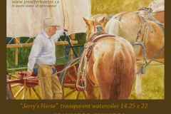 Jennifer Hunter Western Art Cowboy Art Covered Wagon Watercolor Jerrys Horse FB
