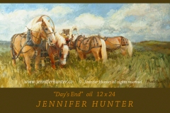 Oregon Trail covered wagon Belgian horses oil western art by Jennifer Hunter FB