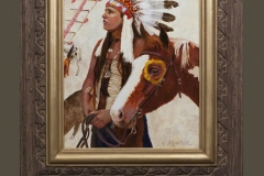 Web Cody Jones Jennifer Hunter oil painting Native American western art Lakota Pride indian tipi horse art