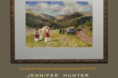 Web Touring the New Rocky Mountain National Park 1915 Jennifer Hunter watercolor Colorado Stanley Steam Car Steamer