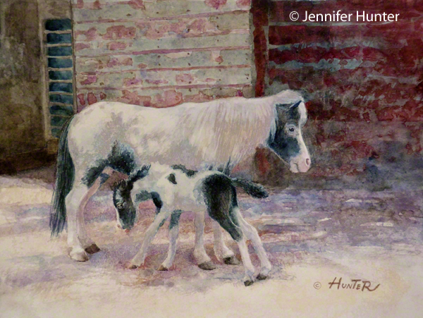 Web Colorado and Company KUSA Denver Channel 9 Jennifer Hunter Mini horse painting